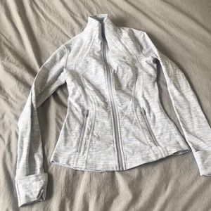 Lululemon White Pattern Define Jacket